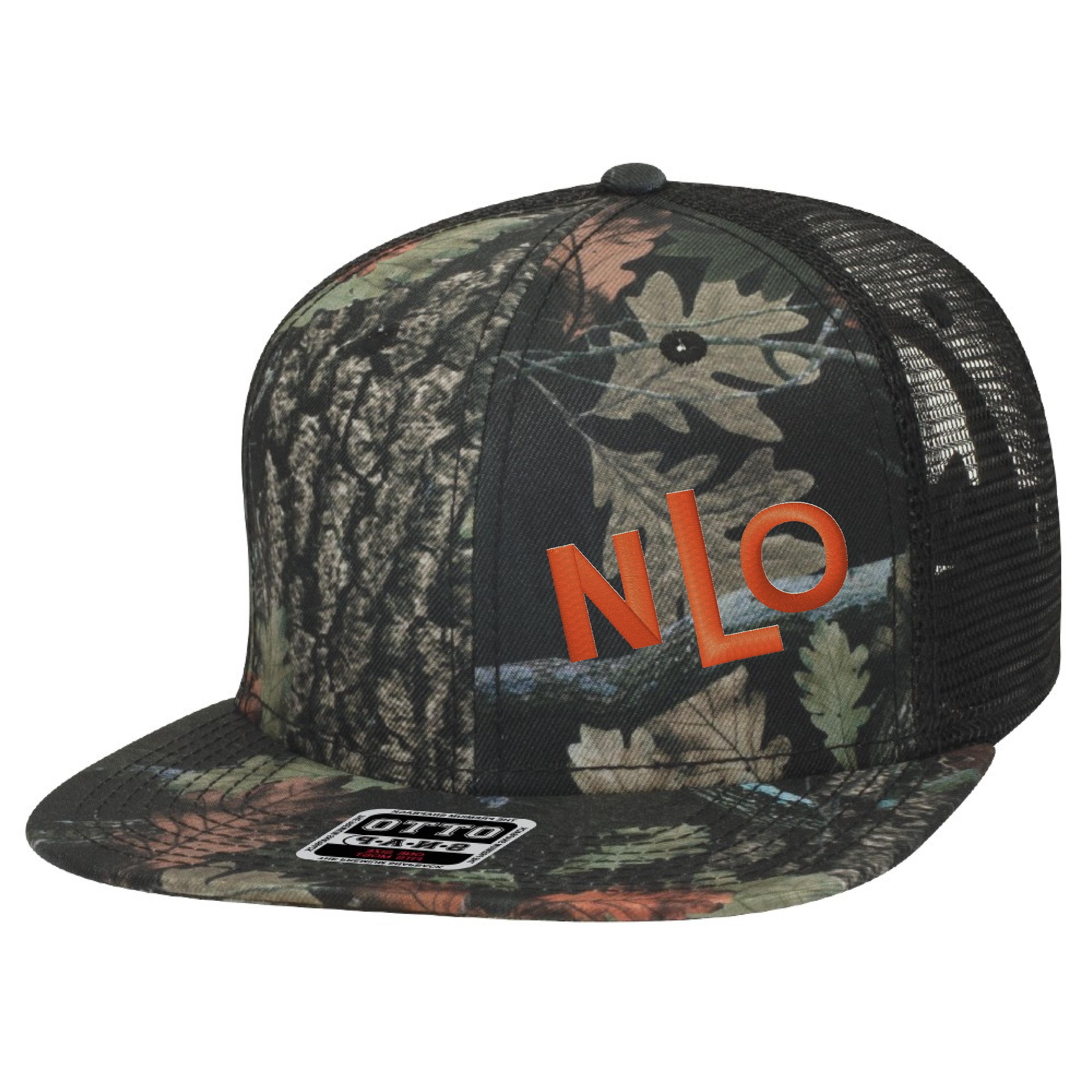 9db063cba NLO Camo Dark and Orange Snapback Trucker Hat