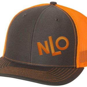 362dd3895 NLO Camo Dark and Orange Snapback Trucker Hat | Never Let Off